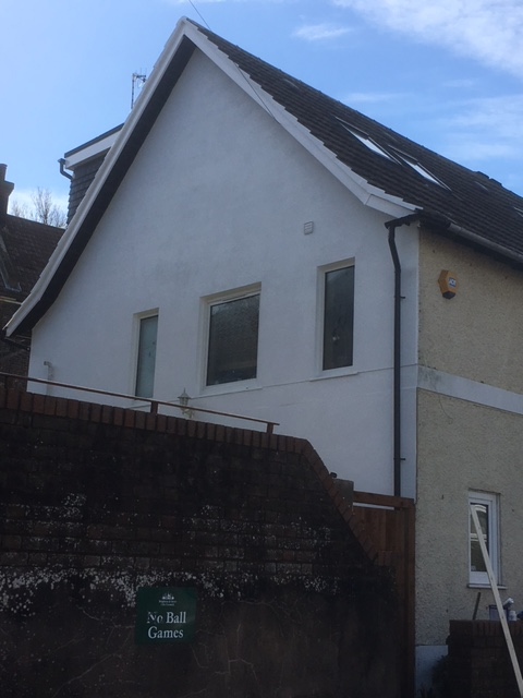 Gable end loft completed