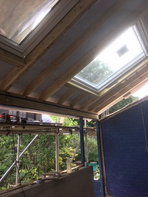 Celotex insulation and velux in place